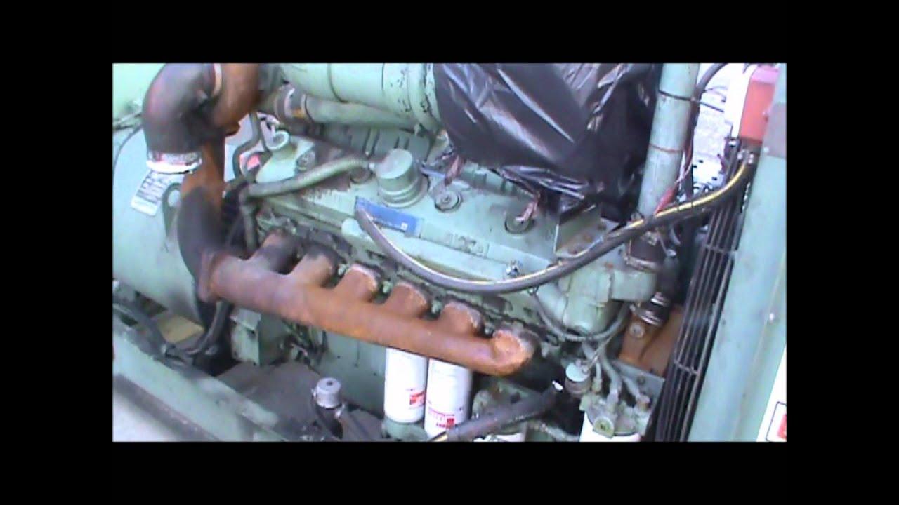 Detroit Diesel 12v71t 365kw 480v Open Diesel Generator