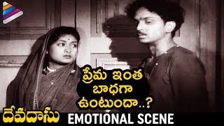 Savitri & ANR Emotional Scene   Devadasu Telugu Movie   ANR   Mahanati Savitri   Telugu FilmNagar