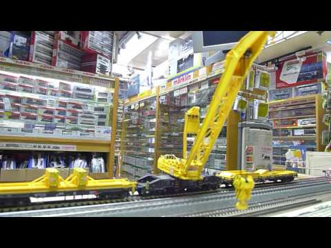 Marklin/Trix rail way crane. DCC sound.