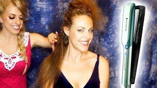 asmr hair salon styling w hair brushing straightening soft spoken binaural ear to ear