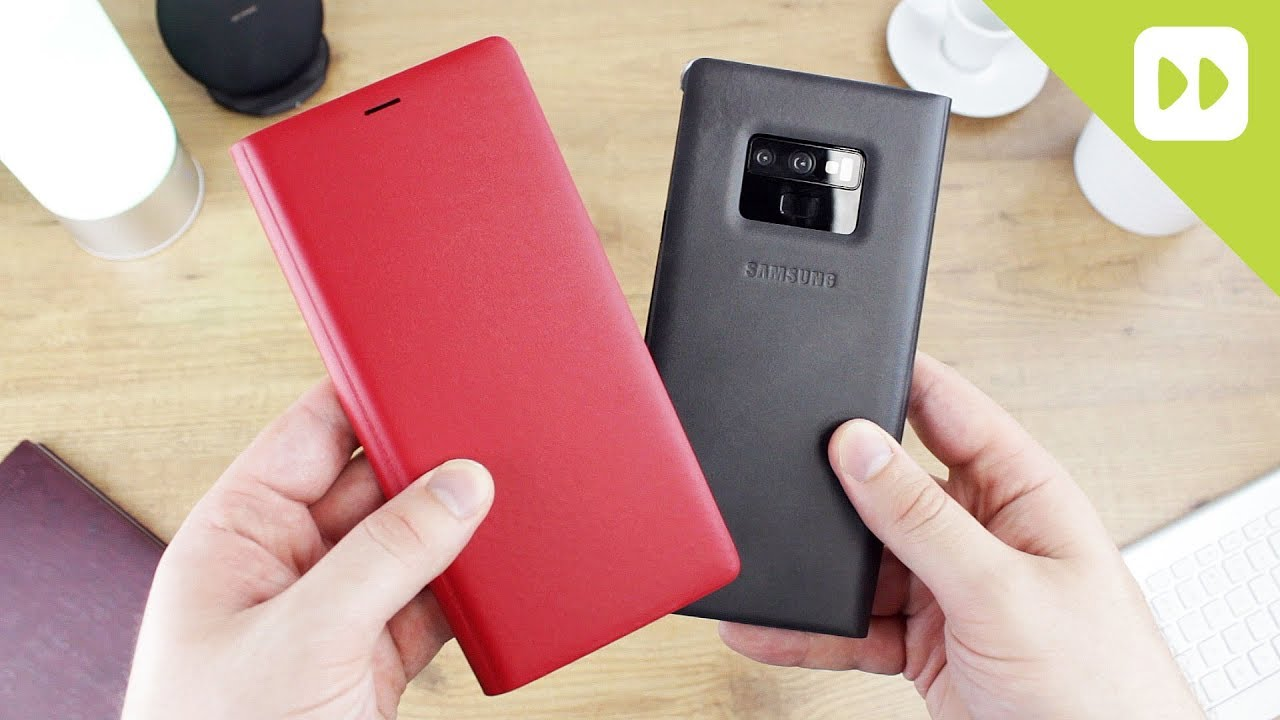 60349bee1 Official Samsung Galaxy Note 9 Leather Wallet Cover Case Review ...