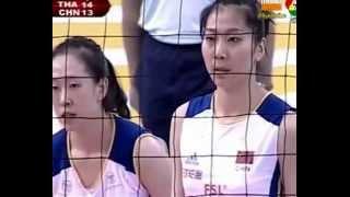 วอลเลย์บอลหญิงไทย&จีน  เซ็ทที่1.flv