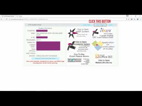 How To Change Your I Learn Student Portal Uitm Password Youtube