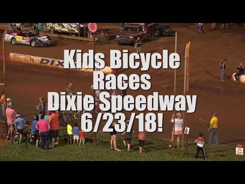 Kids Bicycle Races Dixie Speedway 6/23/18!