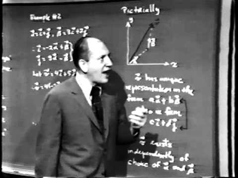 Part III: Linear Algebra, Lec 1: Vector Spaces