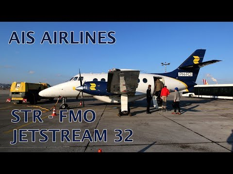 AIS Airlines Jetstream 32 flight Stuttgart - Münster trip report