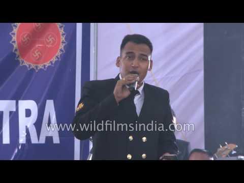 Indian Naval Band Sings 'Zara Si Dil Mein De Jagah'