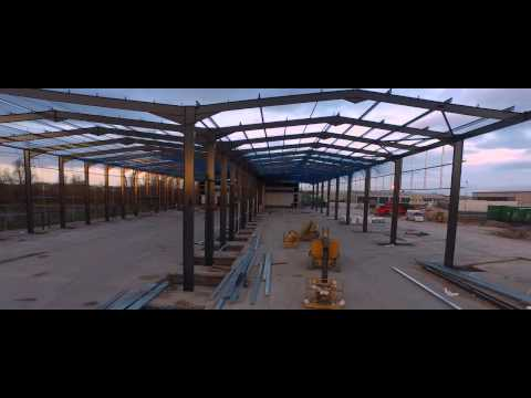 Edge Transport's   Construction Progress Deeside Industrial Park Depot