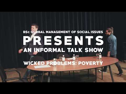 Talk show 'Poverty' - BSc Global Management of Social Issues - Tilburg University