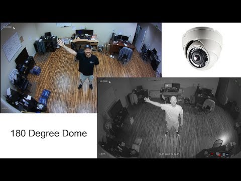 180 Degree HD Dome Security Camera with Infrared Night Vision