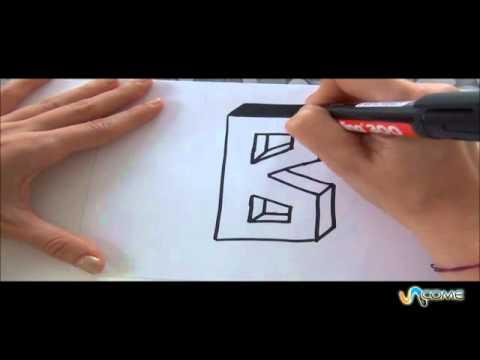 Come disegnare la lettera B in 3D