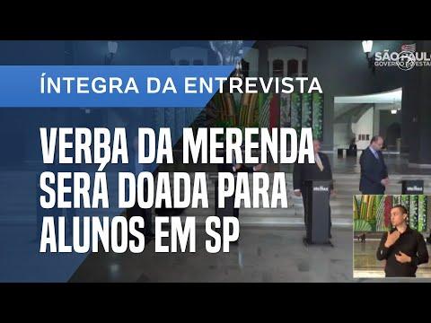 JOÃO DORIA ANUNCIA NOVAS MEDIDAS NO COMBATE AO CORONAVÍRUS. ÍNTEGRA DA ENTREVISTA COLETIVA