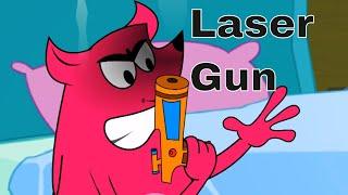Pyaar Mohabbat Happy Lucky - Ep.40   Laser Gun   Hindi Animated Cartoon Show   ZeeQ