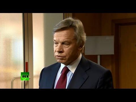 Брифинг Алексея Пушкова по проблематике межпарламентского сотрудничества