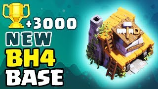 NEW Builder Hall 4 Base (BH4) Defense Replay!! ✦ COC Best Base Design ✦ Clash of Clans