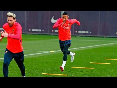 Entrenamiento del FC Barcelona previo al Valencia - FC Barcelona