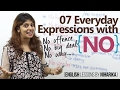 07 everyday expressions with NO Improve your English English lessons by Niharika