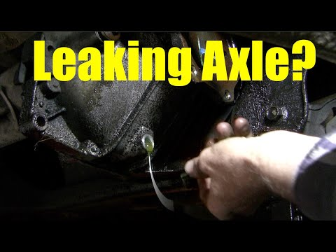 How to fix a leaking left front axle seal, Chev/GM 4X4,  part 2