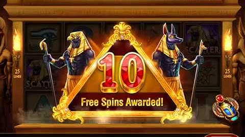 PHARAOH RISING Video Slot Casino Game with a FREE SPIN BONUS