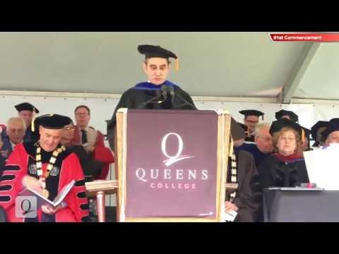 David Goodman accepts Queens College Doctorate on behalf of Andrew Goodman