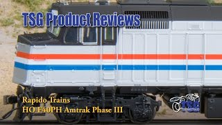 HO Scale DCC Amtrak F40PH Rapido Trains Product Review