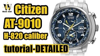 Citizen AT 9010, 9030, 9070, 9071, 9080 - Caliber H820 setup and a short functions instruction