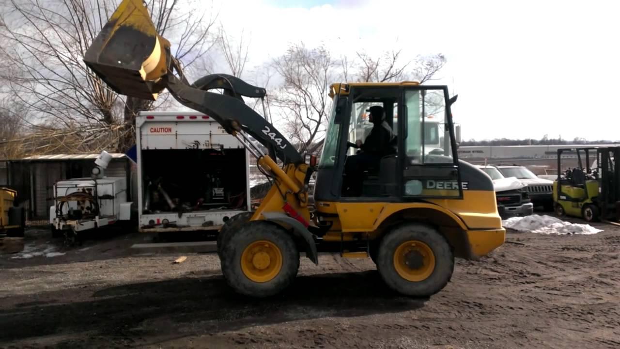 John Deere 244j Attachments : John deere j wheel loader youtube