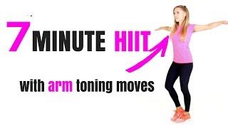 HOME FITNESS HIIT WORKOUT - SUITABLE FOR BEGINNERS - calorie burning moves & arm exercises for women