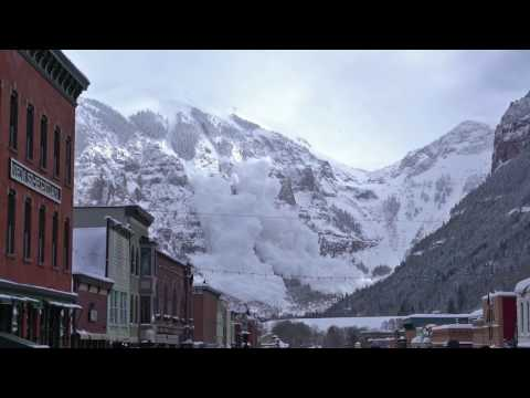 Avalanche Triggered from Telluride, Colorado's Ajax Peak