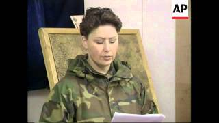 KOSOVO: US/NATO SOLDIER FACING MURDER CHARGE (V)