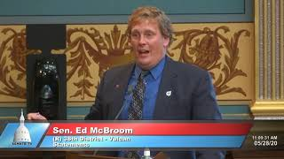 Sen. McBroom addresses the Senate on lack of state responsiveness