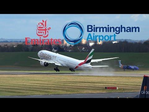 Emirates 777 Breathtaking Takeoff from Birmingham Airport!