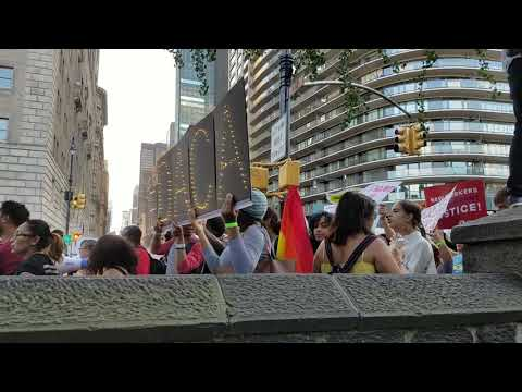 Pro DACA Immigration Rally Passing By On 59th Street In Manhattan, New York
