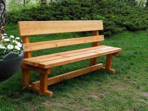 Как сделать скамейку своими руками из дерева