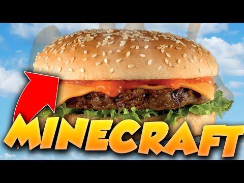 CONSTRUIRE UN HAMBURGER RÉALISTE - BUILD BATTLE Minecraft