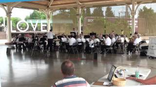 Kings Park Concert Band at Harris Pavilion, Manassas, Virginia 6/9/13