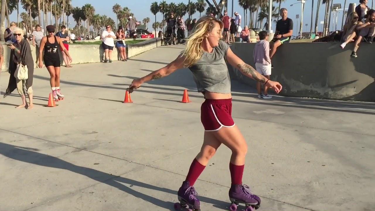Morgan Weske Roller Dancing At Venice Beach