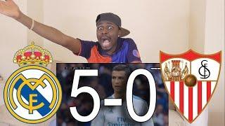 Barcelona Fan React To Real Madrid vs Sevilla 5-0 All Goals  Highlights