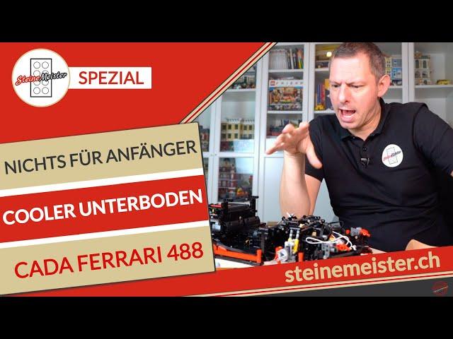 Cada C61042W Ferrari 488: Für  Anfänger ist der Aufbau des coolen Unterteils schwierig / Speedbuild