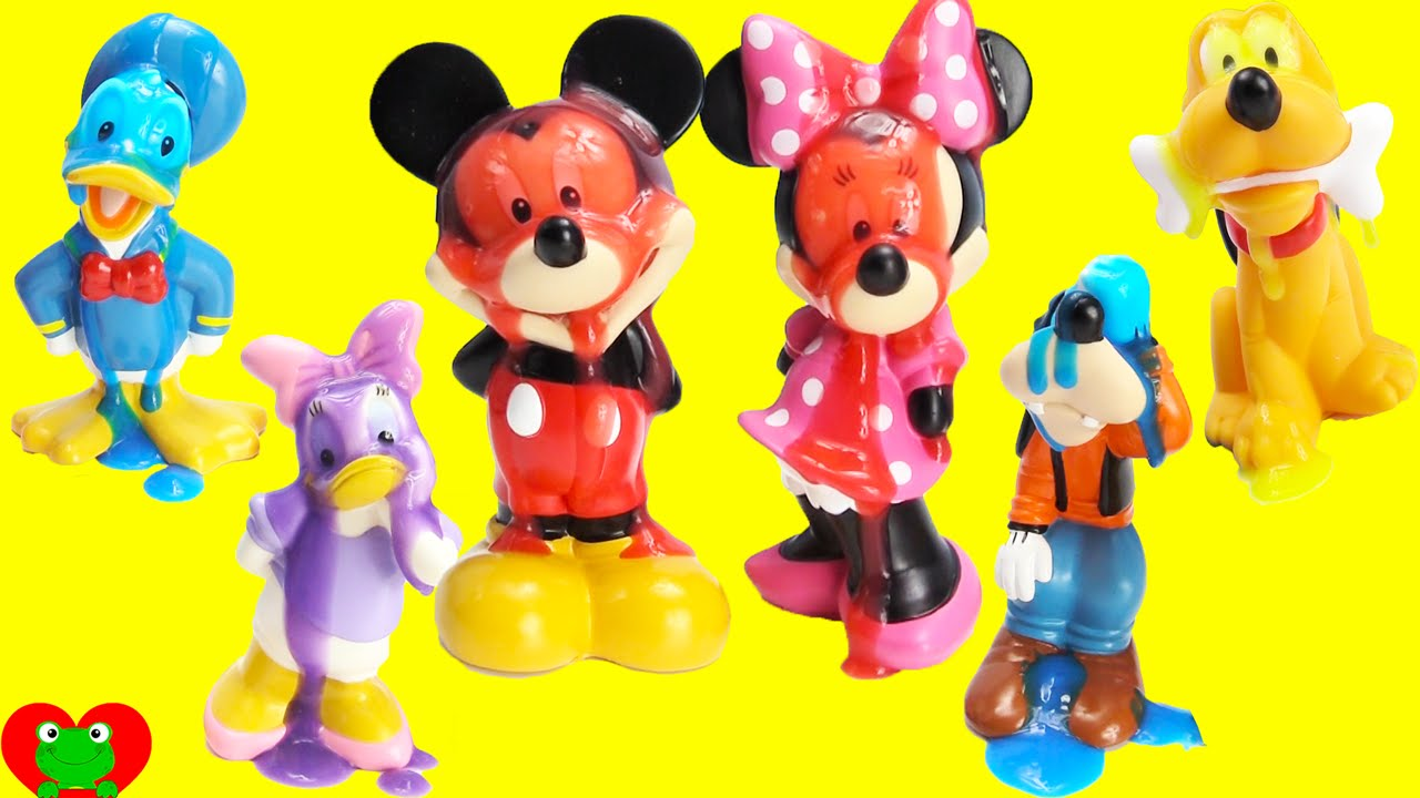Mickey Mouse Club House Friends LEARN Colors with Bath Soaps and ...