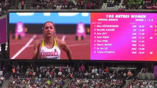 Lückenkemper 10.95 /Heat 1/ 100m Women /London 2017 /IAAF World Championship