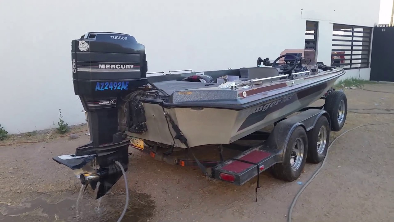 Ranger 390v mercury 200hp black max youtube for Buy bass boat without motor