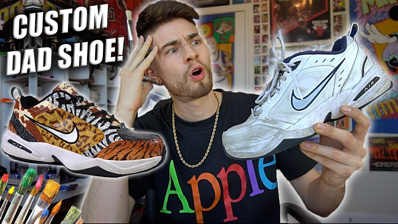 How to Customize Nike Air Monarchs! Safari Pack Dad Shoes  4b219774d