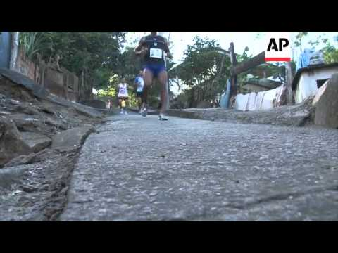 Running for peace in Rio favela