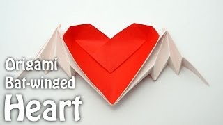 Origami Bat-winged Heart With Color Change (riki Saito)