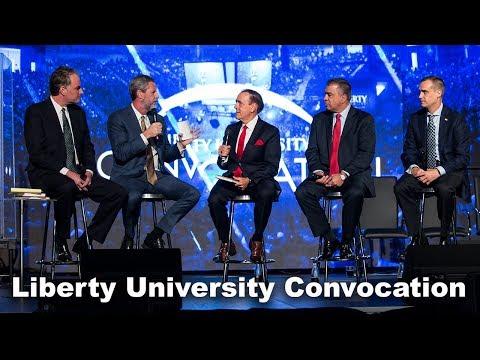 Corey R. Lewandowski, David Bossie and Steve Strang - Liberty University Convocation