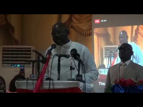 George Weah certificated by the National Election Commision Liberia's next president