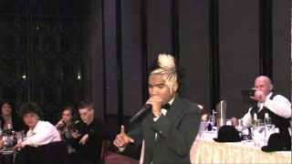Genesis beatboxing at Mitch and Angela wedding 11/11/11