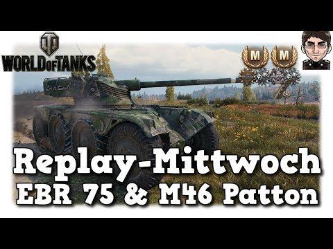 World of Tanks - Panhard EBR 75 & M46 Patton, Mega Spot & goldener Patton [deutsch | Replay] thumbnail