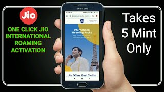 How to activate international roaming on Jio 2021| Jio International roaming activation